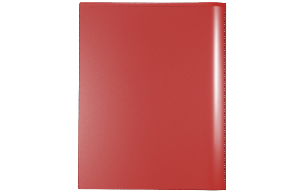 Back View of Nicky's Version 2, a Durable 2 Pocket Plastic Presentation Folder with Clear Sleeves