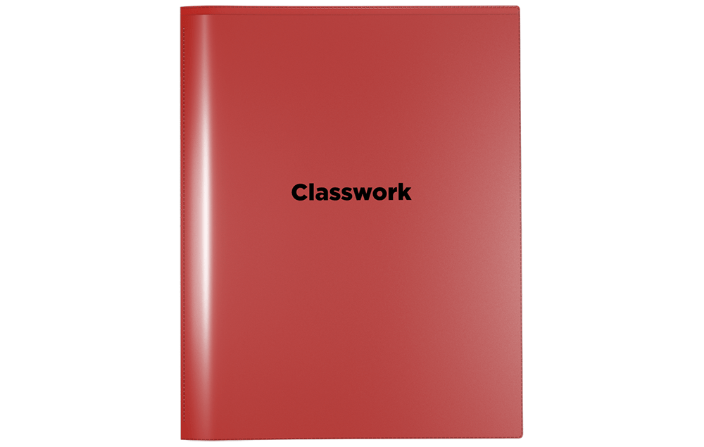 Front View of Nicky's Classwork Folder. Can be use as a school classwork folders, class room folder or class subject folder